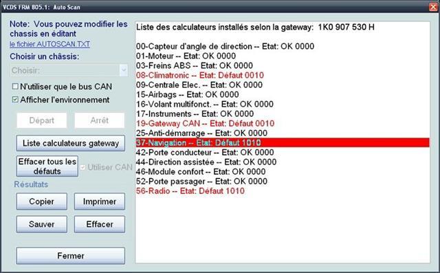 Photo de RCD/RNS510 en seconde monte : problème de CAN Gateway?