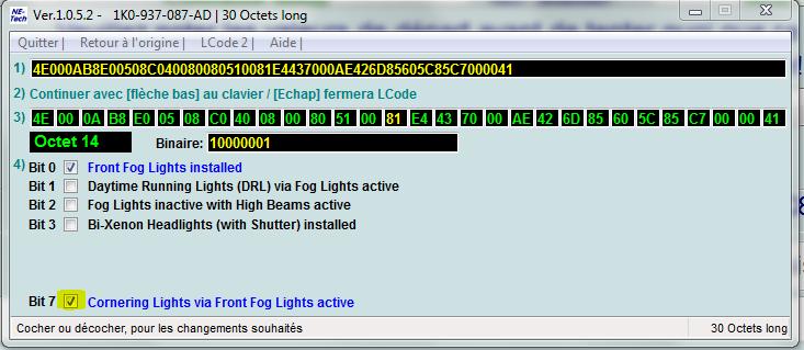 Photo de Activation des Corner Lights sur une Octavia (O2 FL)