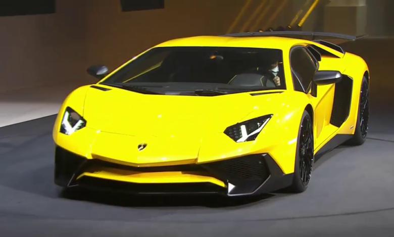 Photo de Video : Présentation de la Lamborghini Aventador LP750 – 4SV